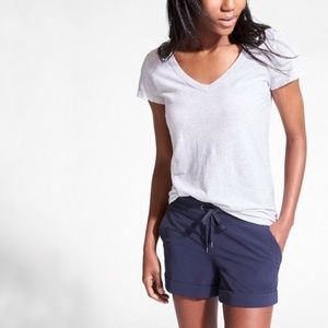 ATHLETA | Gray With Ease V Neck T-Shirt Large